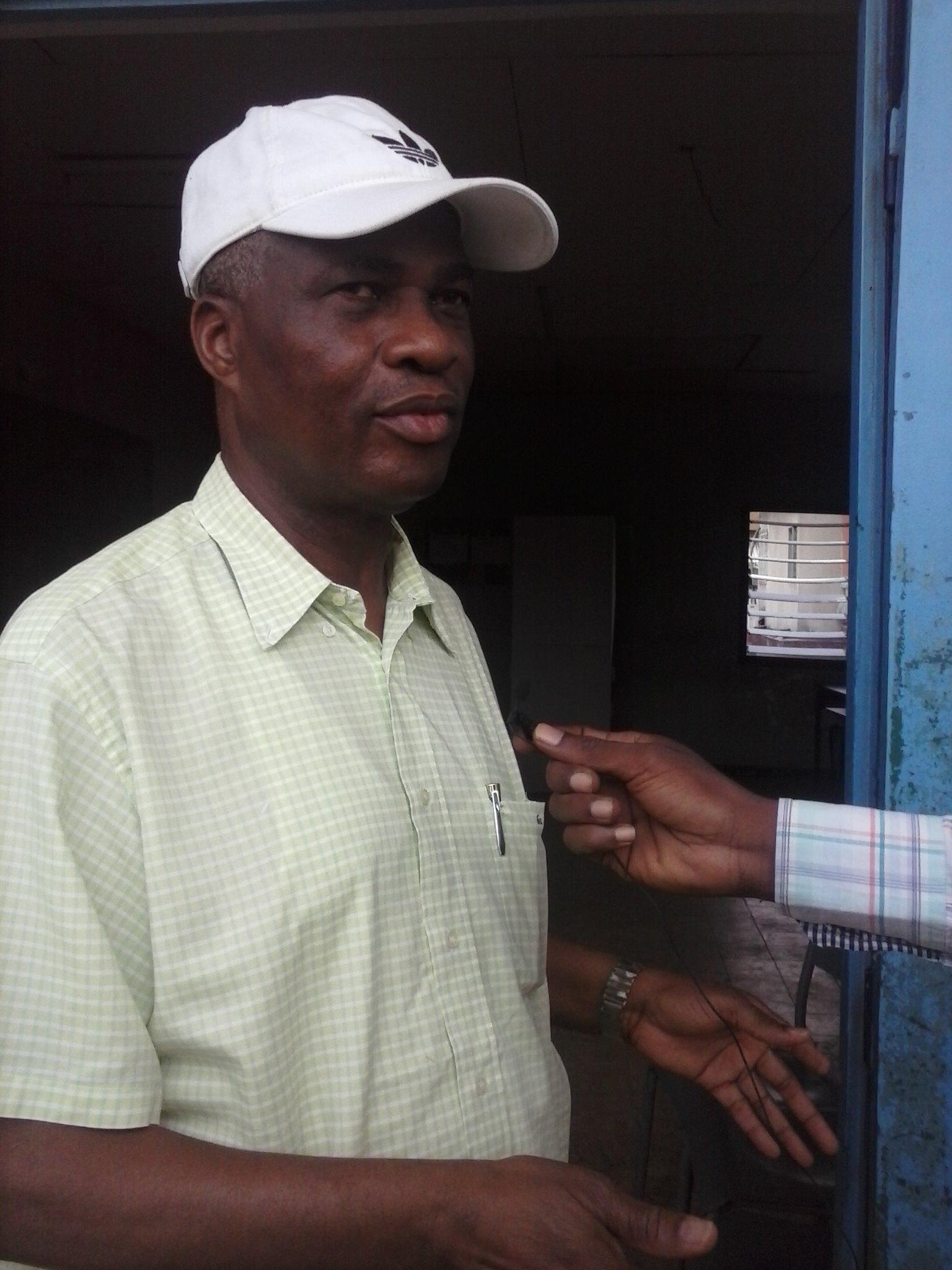 N'Goan Aka Mathias, candidat du PDCI aux élections municipales à Cocody. Crédit Photo: Fofana