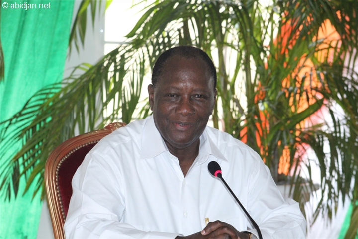 Ouattara en conférence dans le District des Savanes. Photo: DR