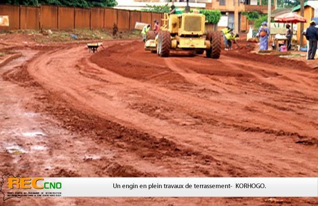 Des travaux de voirie pour donner un nouveau visage à Korhogo. Photo: DR
