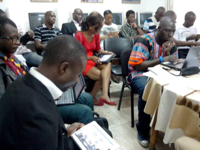 L'atelier de formation des blogueurs ivoiriens initié par l'ambassade des USA. crédit photo: FBI