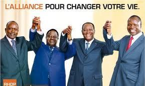 Les plus grands partis de l'opposition s'unissent pour créer le RHDP. crédit photo: DR