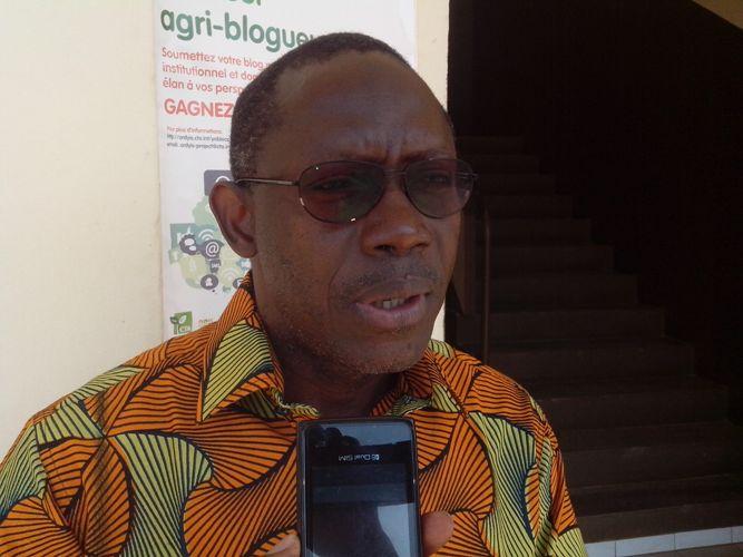 Doumbia Sékou, chef de département Appui au développement études d'impact au CNRA. Ph: FBI