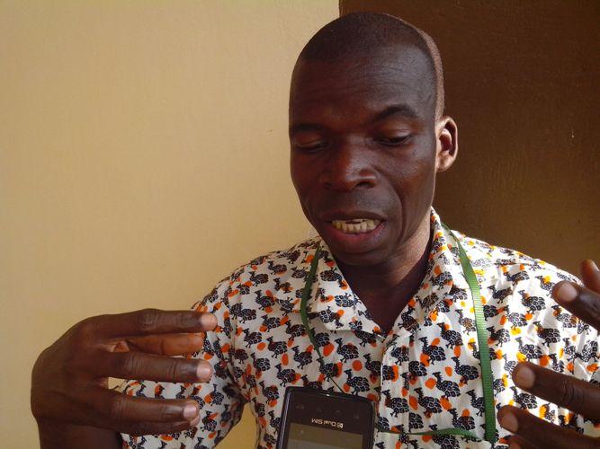 Gonh Pierre, Enquêteur à l'Office de la commercialisation des produits vivriers (OCPV). Ph: FBI