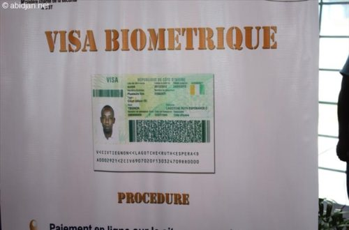 Article : Le visa biométrique est disponible à l'aéroport d'Abidjan