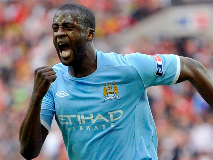 L'international ivoirien Yaya Touré, milieu defensif de Manchester City. Ph: DR