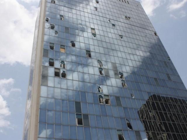 L'immeuble CCIA, fortement endomagé pendant la crise de 2011 a été entièrement rénové et abrite aujourd'hui une grande partie des bureaux de la Banque africaine de développement (BAD) / Ph: Abidjan.net
