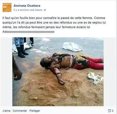 En témoigne ce post Facebook d'un partisan de Ouattara.
