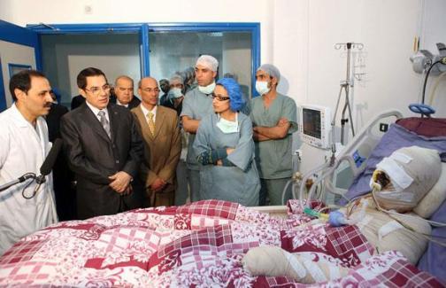 Mohamed Bouazizi, est décédé des suites de ses brûlures après son évacuation à l'hopital. Ph: laregledujeu.org