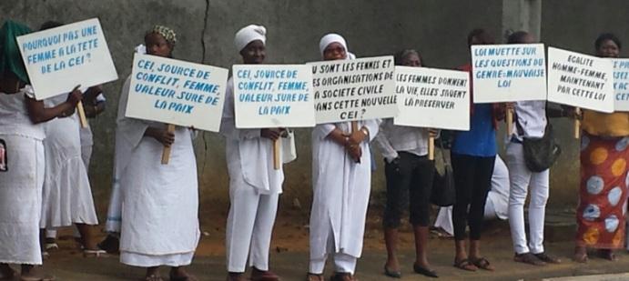 Ces femmes ivoiriennes entendent aller jusqu'au bout du combat contre les inégalités sociales. Ph: Wanep-ci