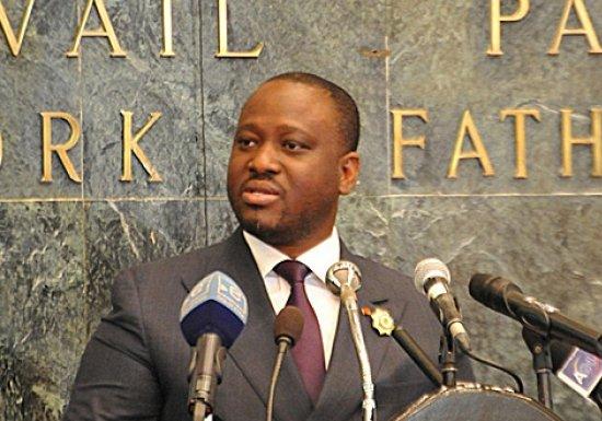 Soro Guillaume, lors de son allocution au parlement camerounais le 11 juin 2014. Ph: DR
