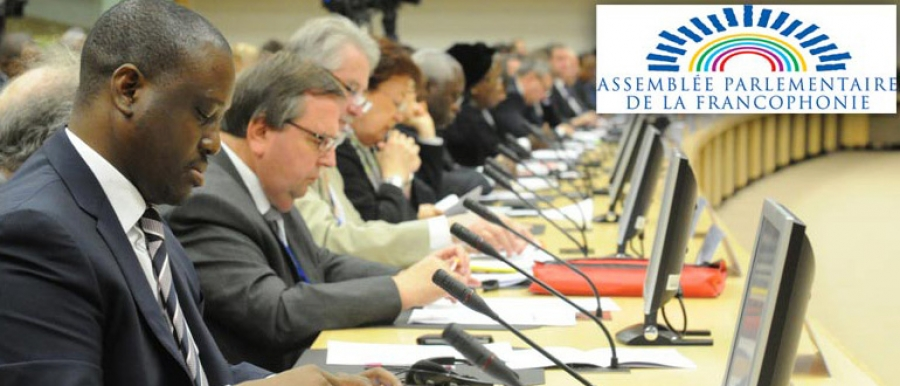 Le président du parlement ivoirien, à Ottawa, au Canada. Ph: Sercom Pan
