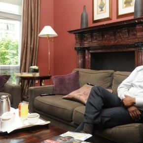 Guillaume Soro, lors d'un voyage à Bruxelles. Ph: DR