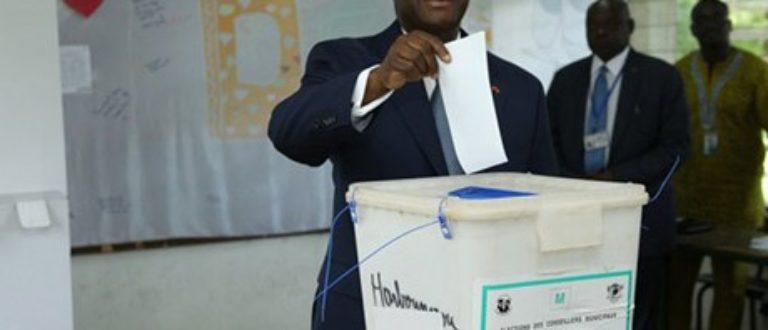 Article : Election, le parti de Ouattara divisé dans 97 localités