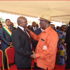 Anaky et Ouattara, lors de la visite du président de la République dans sa région natale. Ph: Dr