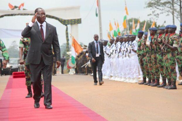 Arrivée du Président Ouattara à Daoukro. Ph: Abidjan.net