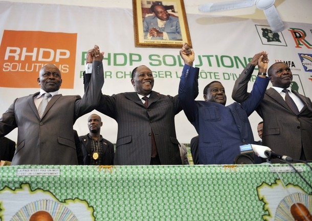 En 2010, le Rhdp a fait gagné le président Ouattara. Ph; Dr