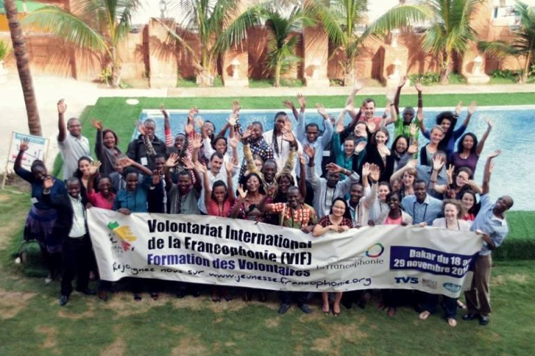 La photo de famille des VIF de la promotion 2014 à l'hotêl le Virage à Dakar. © Théo