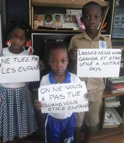 Les messages des enfants, en proie aux enlèvements. Ph: DR