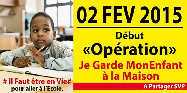 """La fameuse opération dite de """"retrait des enfants des écoles ivoiriennes"""", sur la toile."""