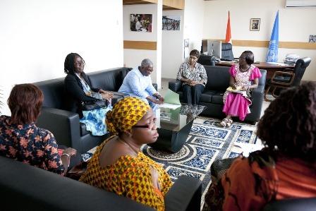 Une délégation du GOFEHF à l'ONUCI. Ph: ONUCI