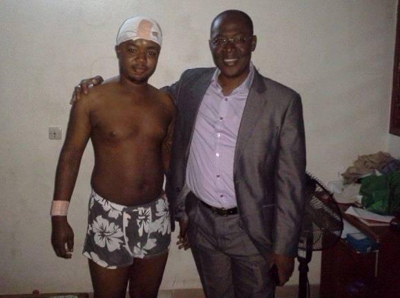 Le Directeur de l'INFS avec son jeune frère Traoré Aboubacar. Ph: MT