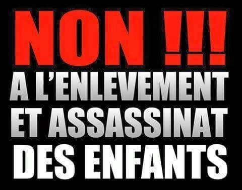 """""""Non aux enlèvements"""", une infographie qui circule bien sur les réseaux sociaux. Ph: DR"""