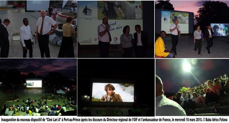 Inauguration nvo dispositif -Ciné Lari A-Haiti 2015