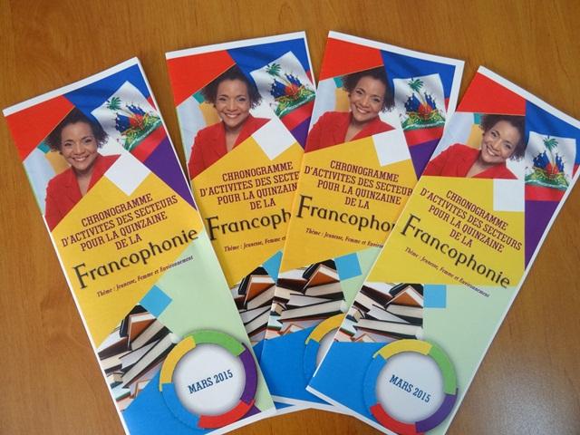 """Un livret a été conçu pour répertorier toutes les activités de la """"Quinzaine de la Francophonie"""". Photo: FBI"""