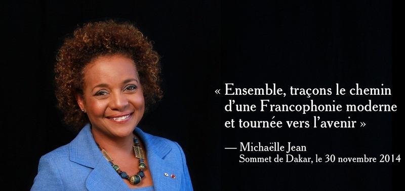 Madame Michaëlle Jean veut construire l'avenir de la Francophonie avec les jeunes. © michaellejean.ca