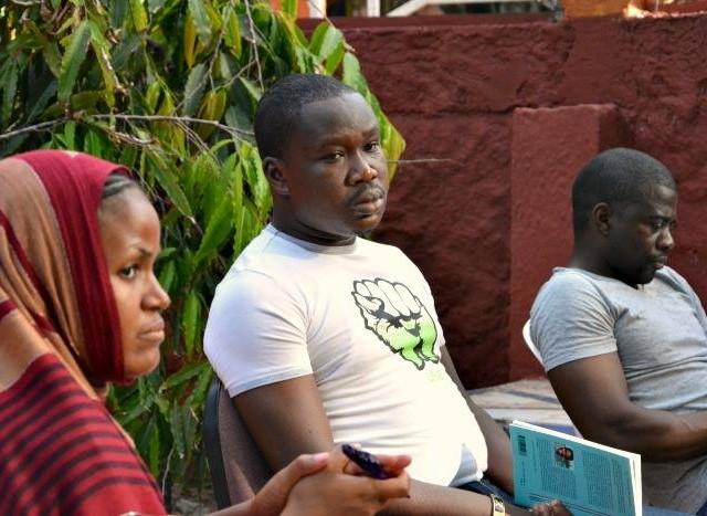 Des Mondoblogueurs (Awa, David, Solo) Abidjan 2014, © Raphaelle Constant