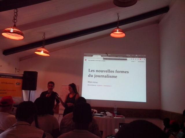 Nouvelles formes de journalisme avec Pierre Romera, Mondoblog Abidjan 2014 © FBI