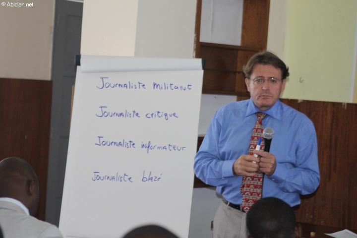 Du 26 au 28 septembre 2012. Abidjan, Plateau (Maison de la presse). L'Ambassade des Etats-Unis en collaboration avec L`UNJCI forment les journalistes sur la question des relations entre les Médias et le Parlement.