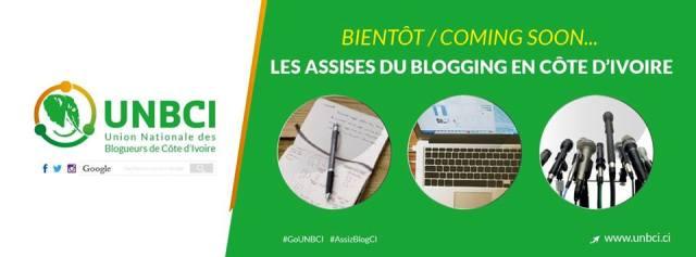 Un visuel annonçant les Assises du blog en Côte d'Ivoire ©UNBCI