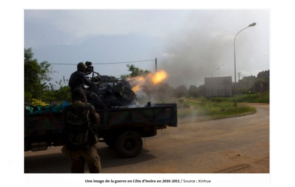 Lors d'affrontement à Abidjan pendant la crise post(électorale de 2010-2011 / Source : Xinhua